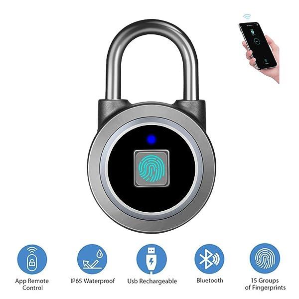Fingerprint Padlock, Bluetooth Lock, APP, IP65 Waterproof, Megafeis