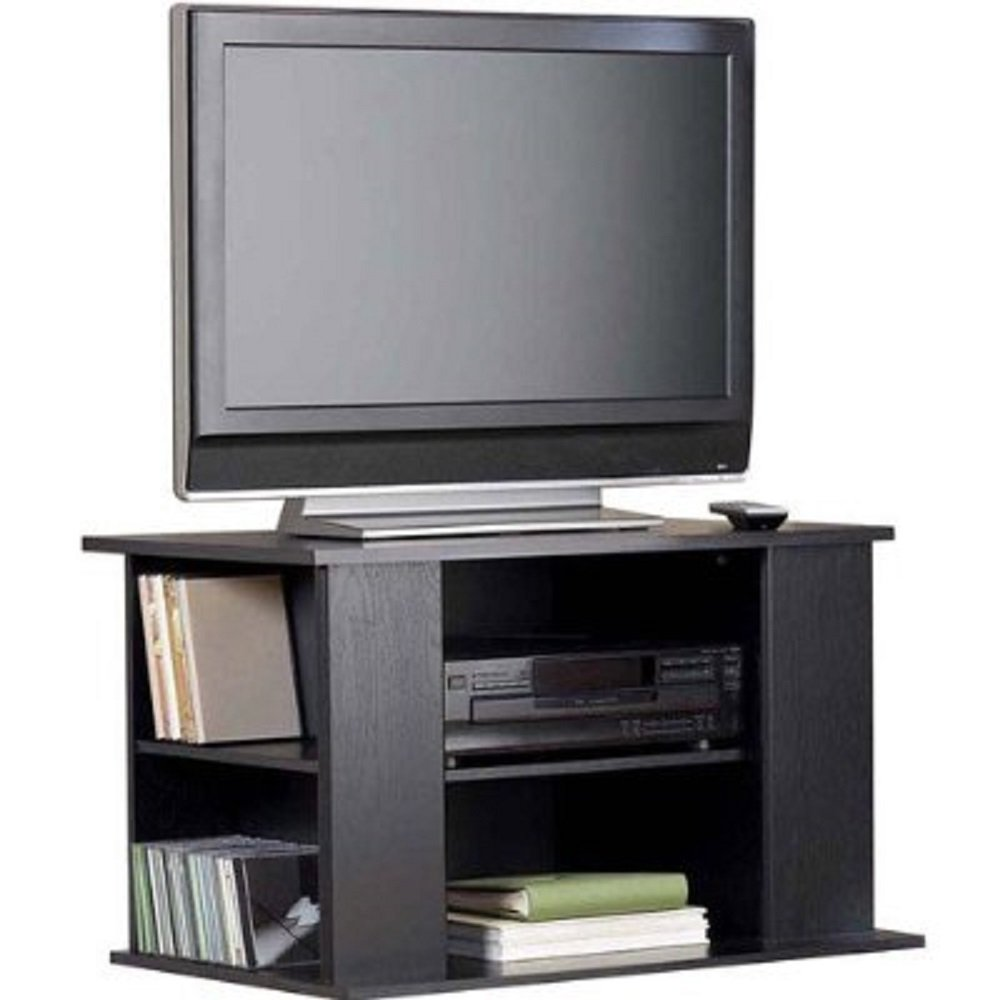 tv stand entertainment center media storage cabinet bookcase for dvds cds video games books. Black Bedroom Furniture Sets. Home Design Ideas