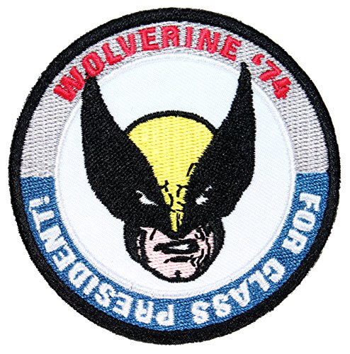 "Wolverine ""For Class President"" 1974 Marvel Comics Debut Iron On Applique Patch"