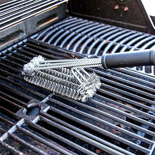 que heads bbq grill brush triple wide head design heavy. Black Bedroom Furniture Sets. Home Design Ideas