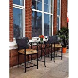 Braddock Heights 3-Piece High Outdoor Bistro Set, Seats 2