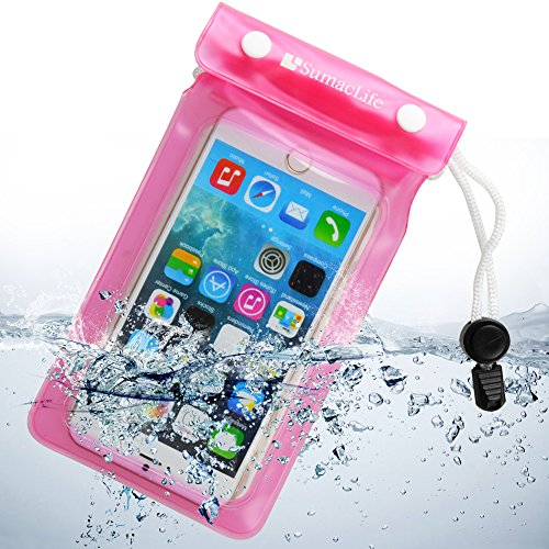 SumacLife discount duty free Sumaclife Universal Waterproof Cell Phone Case for Apple Iphone 6 Plus 6/ Lg G3 / BLU Advanced 4.0(pink)
