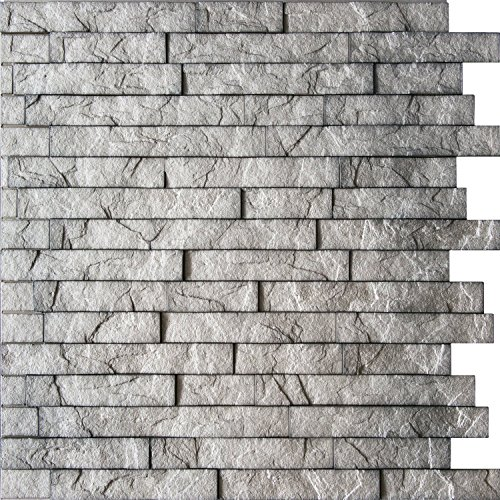 Wall Panel Ledge Stone - Decorative Interlocking Thermoplastic Tiles 2x2 (Portland Cement) (Stone Wall Panels compare prices)
