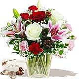 Eden4flowers Delight Bouquet & Chocolates - Flowers & Bouquets Delivered
