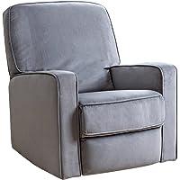 Abbyson Living Bailey Swivel Glider Recliner Chair (Gray)