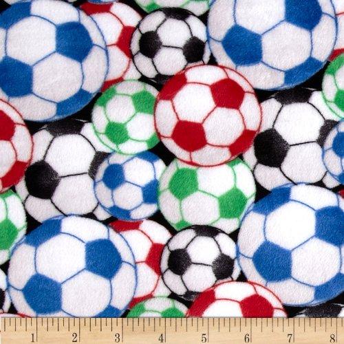 Minky Cuddle Soccer Balls Multi Fabric