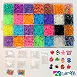 TALENTED KIDZ EXCLUSIVE - MEGA COMBO! 7000 RUBBER BANDS REFILL & STORAGE ORGANIZER: Comes with 7000 Rainbow Colored Rubber Bands in 28 Specialty Colors: GOLD, SILVER, METALLIC, TIE-DYES, GLITTERS, GLOW IN THE DARK, JELLY CLEAR and more! 350 S CLIPS, 12 CHARMS & BEADS are also included. Storage case with 28 removable compartments. This is a refill kit, loom is not included. Fits the rainbow loom when some compartments are removed. MONEY BACK GUARANTEED, NO QUESTION ASKED.