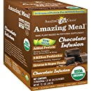 Amazing Grass Amazing Meal, Organic Chocolate Infusion Powder, Gluten Free, 10-Count Box, 11.9oz