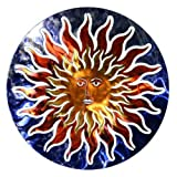Next Innovations WA3DSUNFACEBL/RD Sun Face Refraxions 3D Wall Art, Blue and Red