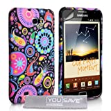 Stylish Jellyfish Silicone Gel Patterned Case Cover For The Samsung Galaxy Note With Screen Protector Film And Grey Micro-Fibre Polishing Cloth - Red Black Pink Yellow Multi Colouredby Yousave