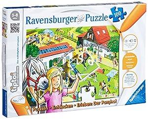 tiptoi®: Ponyhof - 100 Teile Puzzle (ohne Stift) von Ravensburger