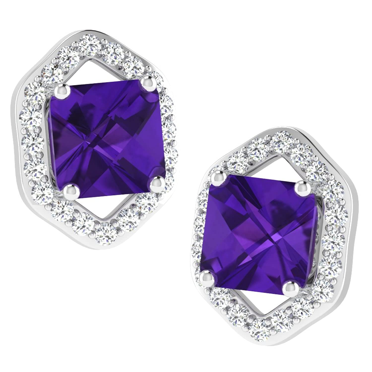 30% - 60% Off On Daimond Jewelry Collection By Amazon | His & Her Diamonds .925 Sterling Silver and Diamond Stud Earrings @ Rs.3,053