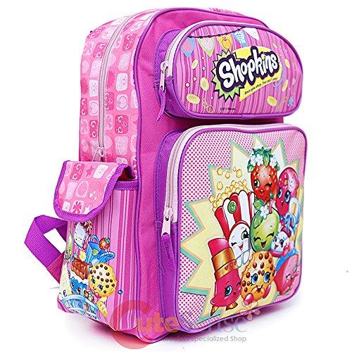 "Motorcycle Bookbag Galleon - Shopkins Large School Backpack 16"" Girls Book Bag"
