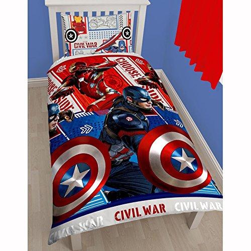 Marvel Piumino una piazza, motivo Capitan America e Spiderman