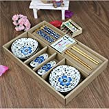 Genius CBF Ceramics Sushi Plate Set for Two in Gift Box (SUSHI set)
