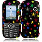 LG Cosmos VN250 / Rumor 2 LX265 ( Virgin Mobile / Sprint / US Cellular / Alltel ) Phone Case Accessory Rainbow Stars Hard Snap On Cover with Free Gift Aplus Pouch