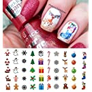 "Christmas Holiday Assortment Water Slide Nail Art Decals - Salon Quality 5.5"" X 3"" Sheet!"