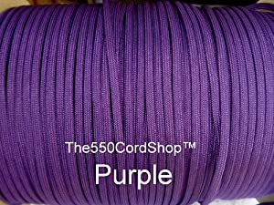 The550CordShop Type III 100-Feet Commercial Paracord, Purple