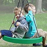 Green: Tire Swing, Super Spinner FUN n SAFE, Tree Swing, Child Swing, Best Swing on the Planet! Easy Swing Set or Tree Install