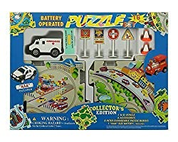 Puzzle Car Set - Battery Operated Amblance