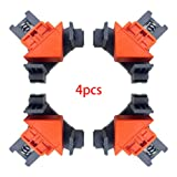 Multi-function Quick-Jaw Right Angle 90 Degree Corner Clamp for Welding Right Angle Clip/Right Angle Clip/Woodworking Right Angle Clip Frame Clip Best Unique Tool Gift for Men (Color: Red)