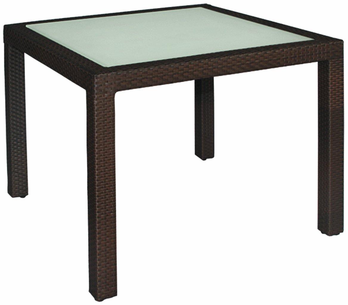 MBM 68.00.0108 Tisch Bellini 90 x 90 cm, mocca, Glasplatte
