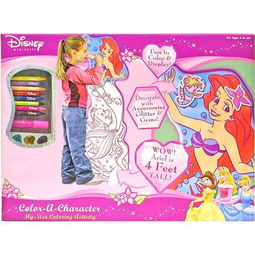 Disney Princess Ariel Color-A-Character My Size Coloring Activity - Buy Disney Princess Ariel Color-A-Character My Size Coloring Activity - Purchase Disney Princess Ariel Color-A-Character My Size Coloring Activity (Disney, Toys & Games,Categories,Arts & Crafts)