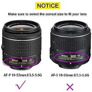 55mm Snap-on Lens Cap Cover with Keeper for AF-P DX NIKKOR 18-55mm f/3.5-5.6G VR Lens for Nikon D7200 D5600 D5500 D5300 D3500 D3400 D3300 DSLR Camera,ULBTER Lens Cap & Lens Cover Keeper -2 Pack (Color: AF-P 18-55mm f/3.5-5.6G)