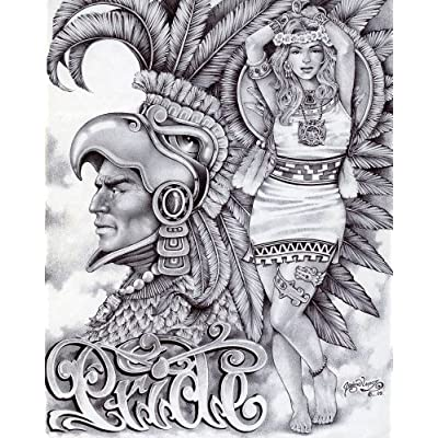 by Mouse Lopez Prison Artist Indian Tattoo Design Canvas Art Print