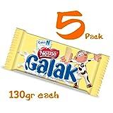 Galak Chocolate de Leche Venezuela 130 gr (5 Pack/130 gr) (Tamaño: 5)
