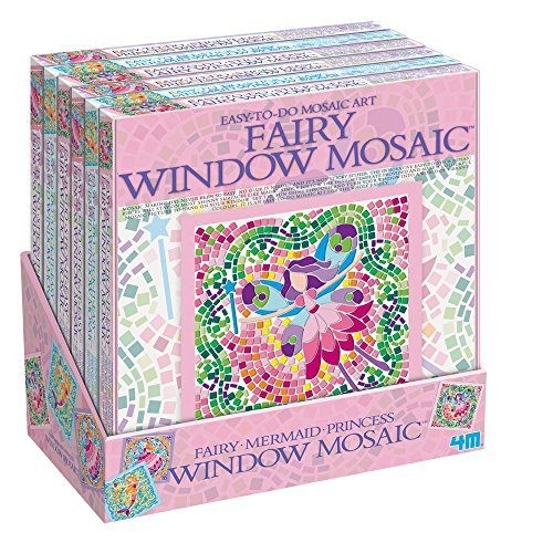 4M 664565 - Fenster Mosaik Girl, 3 Motive sortiert