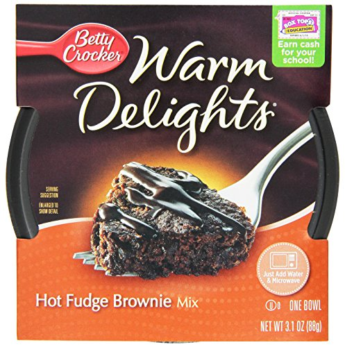 Betty Crocker Warm Delights, Hot Fudge Brownie, 3.1-Ounce Bowls (Pack Of 8)