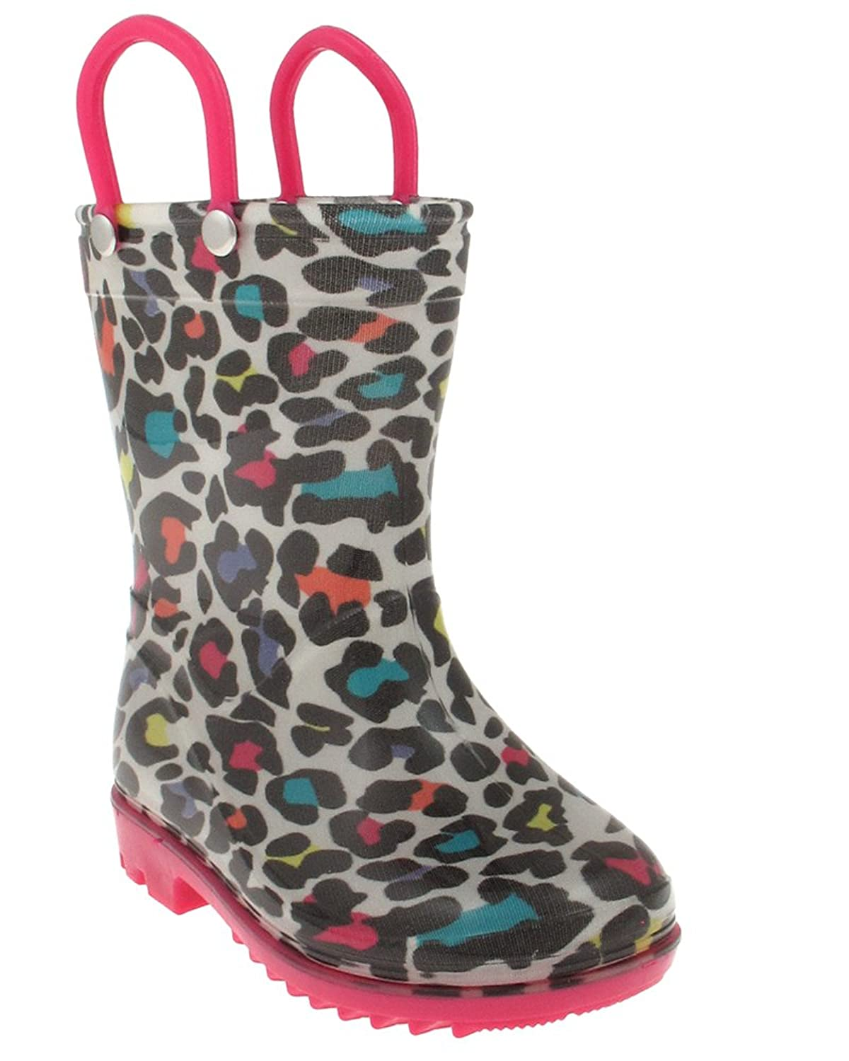 Capelli New York Shiny Leopard printed Toddler Girls Jelly Rain Boots new spring autumn rain boot woman ankle boots sexy women rain boots