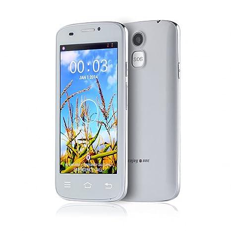 """Enjoytone® W80 MTK6572 1.2GHz Dual Core 4.5"""" 480 x 854 pixels FWVGA écran TFT LCD de 512 Mo de RAM + 4G ROM 5MP caméra Dual SIM 3G WCDMA déverrouillé Senior téléphone Smartphone avec Touche SOS d'urgence"""
