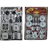 IDEAL 22 Peices Kids Kitchen Set For Kids With Cup Sets - Good Gift For Kids