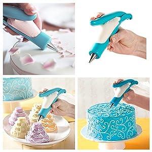 Yakamoz Pastry DIY Cake Decorating Pen Icing Piping Tips Nozzles Bag Sugar Craft Fondant Cake Deco Tool Kit (Color: Cake Decorating Pen)