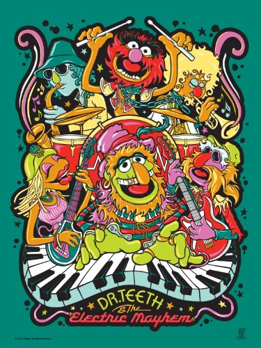 Dr. Teeth And The Electric Mayhem By James Carroll (Silkscreen Print)