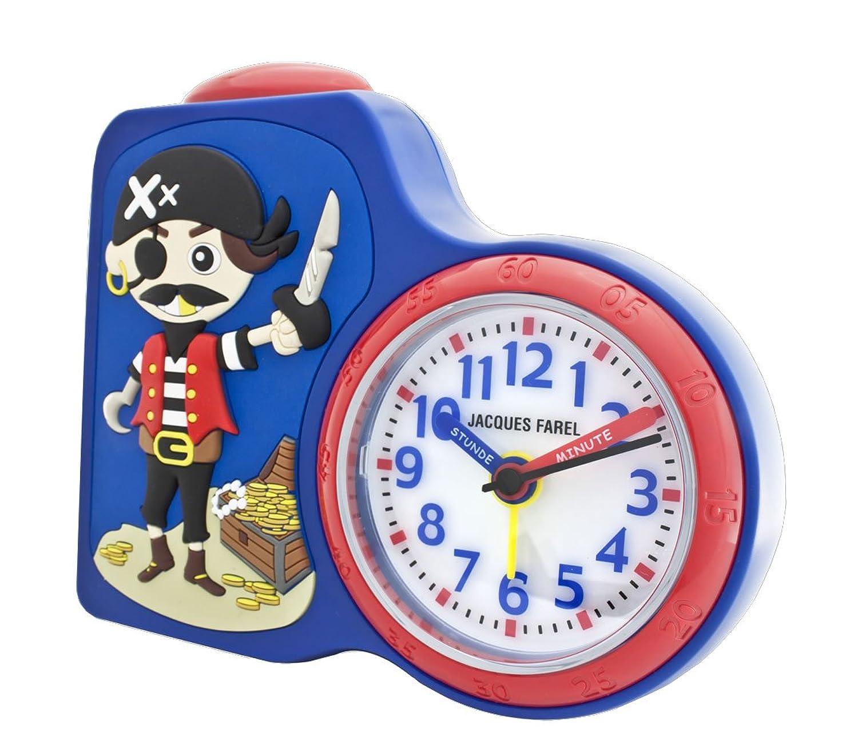JACQUES FAREL ACB715PI-G Pirat Wecker Junge Kinderwecker Kunststoff Analog Licht Alarm Piratenwecker weiss günstig bestellen