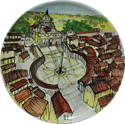 piazza-san-pietro-piatto-decorato-a-mano-diametro-cm-253-made-in-italy-toscana-lucca-certificato