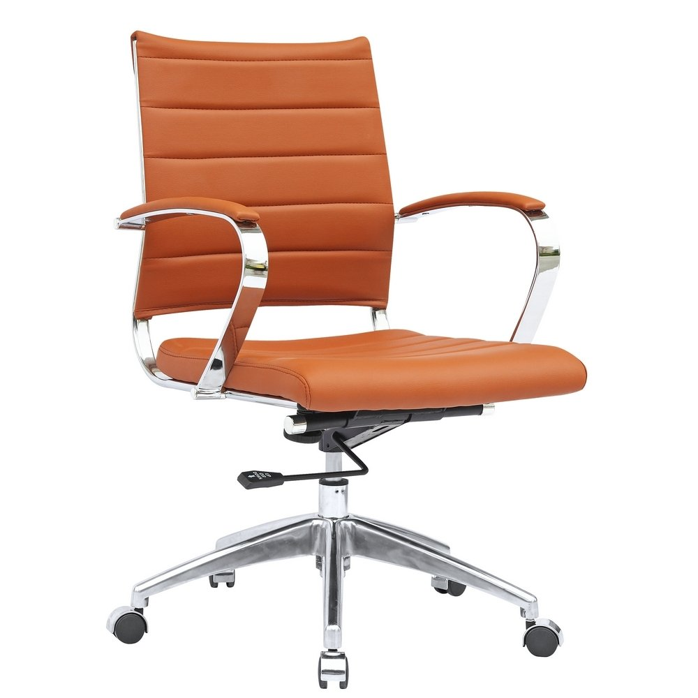 Best office chair 2016 - Fine Mod Imports Sopada Conference Mid Back Office Chair Light Brown