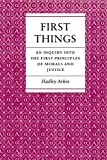 First Things (069102247X) by Arkes, Hadley