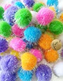 "Rimobul Assorted Color Sparkle Balls My Cat's All Time Favorite Toy - 1.3"" - 20 Pack"