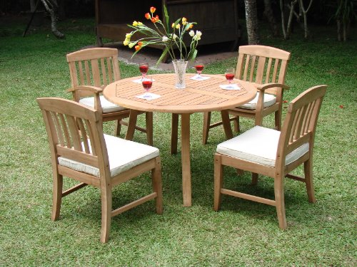Grade-A Teak Wood Luxurious Dining Set Collections: 5 pc- 52