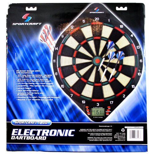 Sportcraft 1200 Electronic Dartboard With 25 Games, 176