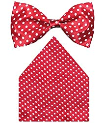 Greyon satin Simple Red Casual Bow Tie (GNA043)