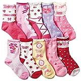 (コナミヤ) Konamiya 女の子 靴下 のびのびクルー丈ソックス 10足セット 子供 キッズ ガール ランキングお取り寄せ