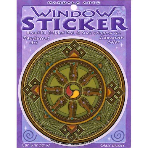 45-doble-cara-colorido-dharma-rueda-ventana-adhesivo-por-bryon-allen