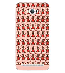 PrintDhaba Love Teddy Pattern D-1603 Back Case Cover for ASUS ZENFONE MAX ZC550KL (2016) (Multi-Coloured)