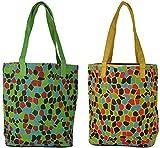 Random Handbags (Green and Yellow, Combo of 2)