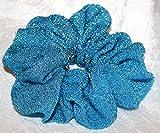 Turquoise Sparkly Hair Scrunchie Regular
